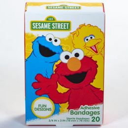24 Units of Bandages 20ct Sesame Street - First Aid and Bandages