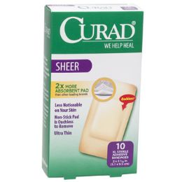24 Units of Bandages Curad Sheer Xl 10ct - First Aid and Bandages
