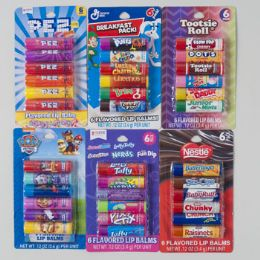 36 Units of Lip Balm 6 Pack 6 Assorted Half Power Panel #as00354q - Personal Care