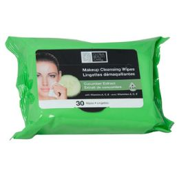48 Units of Facial Wipes 30ct Cucumber Makeup Cleansing 4-12pc Pdq - Assorted Cosmetics