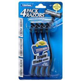 36 Units of Razors Mens Triple Blade 4pk - Shaving Razors