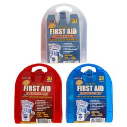 33 Units of First Aid Kit 37 Pcs In Plastic Case - First Aid and Bandages