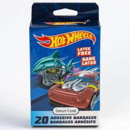 24 Units of Bandages Kids 20ct Hot Wheels - First Aid and Bandages