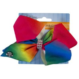 24 Units of Hair Clip Rainbow Butterfly - Hair Accessories