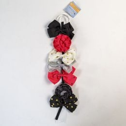 24 Units of Hairclip 7pk On Ribbon Hanger 5 Butterfly/2 Flower Clip Stklot - Hair Accessories