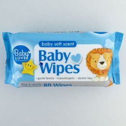 12 Units of Baby Wipes 80 Count Blue - Personal Care Items