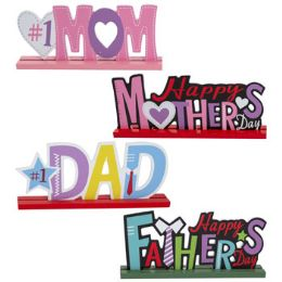 24 Units of Mom Dad Mdf Tabletop Greetings - Office Accessories
