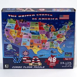 6 Units of Puzzle 48pc Usa Map - Crosswords, Dictionaries, Puzzle books