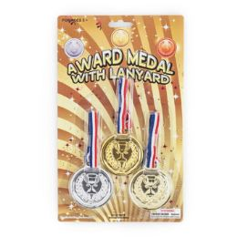 48 Units of Award Medal 3pk Plastic - Home Accessories
