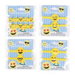 48 Units of Emoticon Bracelet 2pk Plstc 8in - Bracelets