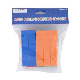 24 Units of Foam Counting Blocks 50ct - Educational Toys