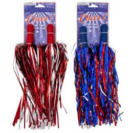 24 Units of Cheer PoM-Poms 2pk Tinsel - Pom Poms and Feathers