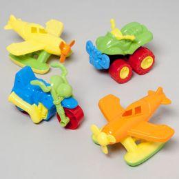 24 Units of SAND VEHICLE TOYS PLSTC 3ASST - Beach Toys