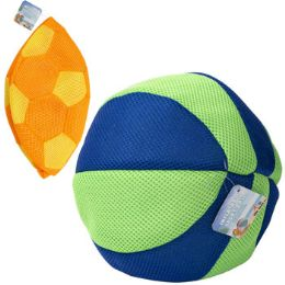 24 Units of Inflatable Soccer/beach Ball Mesh Covered Rubber 10in 2ast - Inflatables