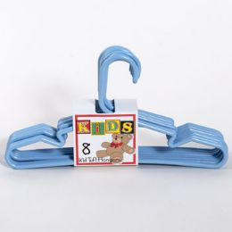 16 Units of Hangers Tubular Blue 8pk Kids - Hangers