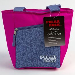 24 Units of Cooler 9 Can Tote W/pocket - Cooler & Lunch Bags