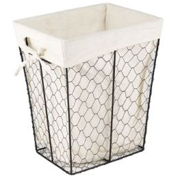 12 Units of Wire Basket W/cotton Liner - Baskets
