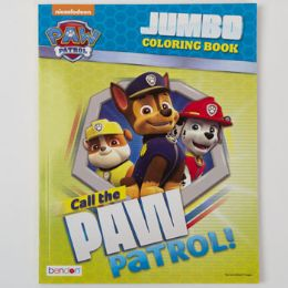24 Units of COLORING BOOK PAW PATROL JUMBO - Coloring & Activity Books