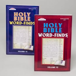 48 Units of WORD FINDS HOLY BIBLE - Crosswords, Dictionaries, Puzzle books