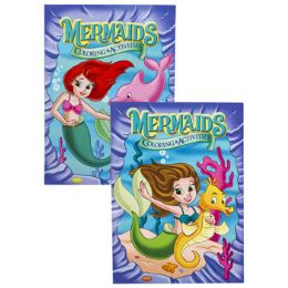24 Units of Coloring Book Mermaids In Pdq - Coloring & Activity Books