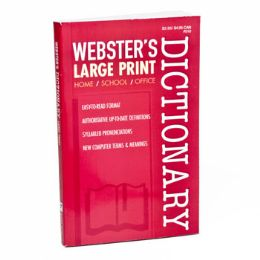 24 Units of Dictionary Webster's Large Print - Books