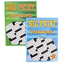 24 Units of CROSSWORD PUZZLES BIG PRINT - Crosswords, Dictionaries, Puzzle books