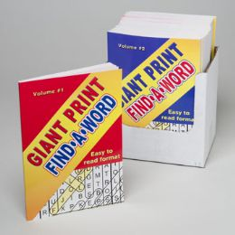 24 Units of WORD FIND GIANT PRINT IN PDQ - Crosswords, Dictionaries, Puzzle books