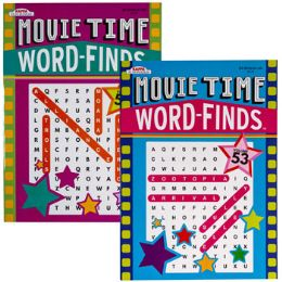 120 Units of WORD FINDS MOVIE TIME 2 ASST - Crosswords, Dictionaries, Puzzle books