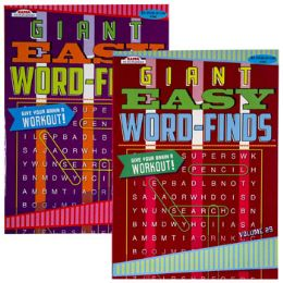 24 Units of WORD FINDS GIANT EASY 2 ASST - Crosswords, Dictionaries, Puzzle books