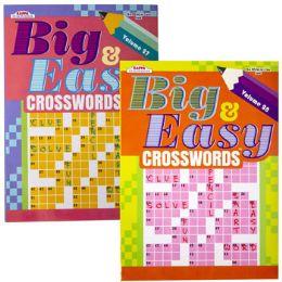 120 Units of CROSSWORDS BIG & EASY 2 ASST - Crosswords, Dictionaries, Puzzle books