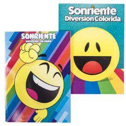 24 Units of Coloring Book Bilingual Emoji - Coloring & Activity Books