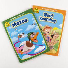 24 Units of ACTIVITY BOOKS SCHOOL ZONE #5 - Crosswords, Dictionaries, Puzzle books
