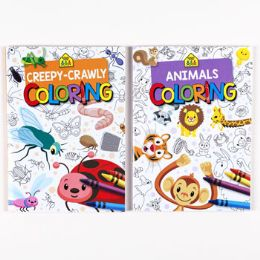 24 Units of Coloring Book School Zone 2 Asst - Coloring & Activity Books