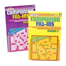 36 Units of CROSSWORD COMPANION FILL-IN - Crosswords, Dictionaries, Puzzle books