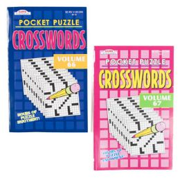 48 Units of CROSSWORD POCKET PUZZLES - Crosswords, Dictionaries, Puzzle books