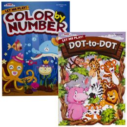 24 Units of COLOR/ACTIVITY BOOK COLOR BY - Crosswords, Dictionaries, Puzzle books