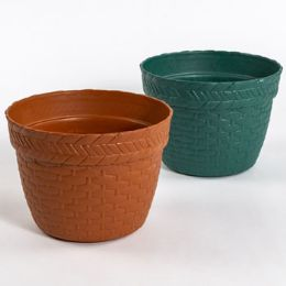 "48 Units of Planter Rnd 8x6""h Weave Design"" - Garden Planters and Pots"
