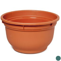 "24 Units of Planter Round 15x 9""h 2-Colors"" - Garden Planters and Pots"
