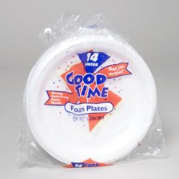 20 Units of Foam Plate 10 Inch 14 ct - Disposable Plates & Bowls