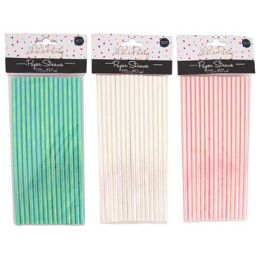 48 Units of Straws Pearlized 15ct 3ast - Straws and Stirrers
