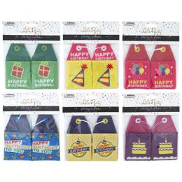 36 Units of Gift Card Holder Bday 2pk - Party Paper Goods
