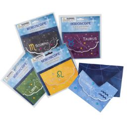 96 Units of Zodiac Gift Card Holder W/envlpe - Party Paper Goods