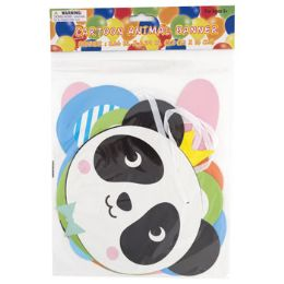 48 Units of Party Banner Cartoon Animal 62in - Party Novelties