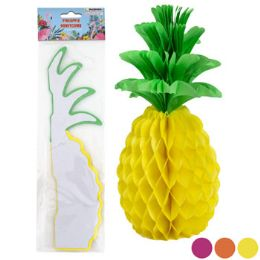 48 Units of PINEAPPLE HONEYCOMB TISSUE DECOR - Gift Wrap