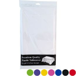 48 Units of Tablecover 54x108 Pe Plastic - Party Paper Goods