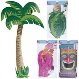 24 Units of Luau Party Jointed Cutout 3ast - Party Novelties