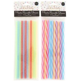 48 Units of Straw Reusable 10ct 7.5inl Plst - Straws and Stirrers