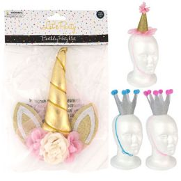 24 Units of Birthday Party Hat 4ast - Party Novelties