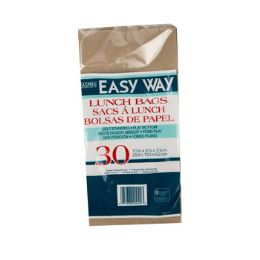 40 Units of Lunch Bags 30ct Brown Paper Bags 10.5x5.25x3.25 Easy Way - Cooler & Lunch Bags