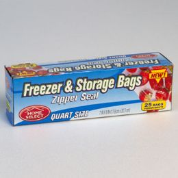 24 Units of STORAGE BAGS 25CT QUART - Food Storage Containers